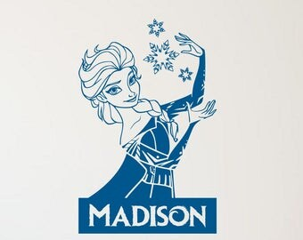 Frozen Elsa Personalized Vinyl Wall Decal