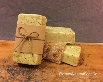 Green Tea & Lemongrass Goats Milk Soap