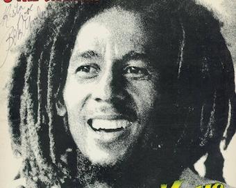Bob Marley Autographed LP