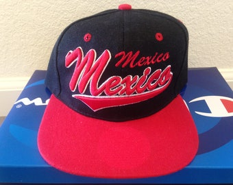 Mexico Red and Black Snapback Cap Hat