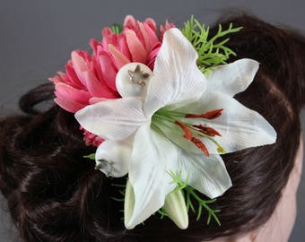 "Vintage inspired rockabilly hair flower/Hairflower ""Gloria"""