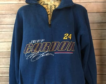 Vintage Nascar Jeff Gordon Half Zip Pullover Sweatshirt (M)