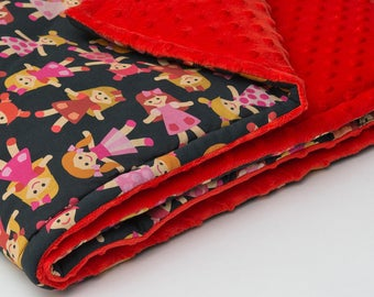 Super soft cotton-minky baby blanket with antiallergenic filling. Pram blanket