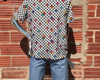 Vinatge 90s Penbrooke lane blouse with shoulder pads