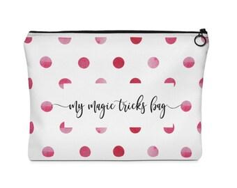 Cosmetic bag, toiletry bag, pencil bag, travel bag, my magic tricks bag, Carry All Pouch  Flat