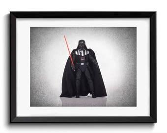 Darth Vader wall art print, Star Wars, Star wars art, boys room decor, kids room decor, Star wars print, Star wars decor,  star wars poster