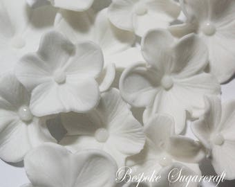 x100 White Sugarcraft Mixed Size Blossoms for Any Occasion Cake, sugarflower blossoms, edible flowers, gumpaste blossoms, sugar blossoms