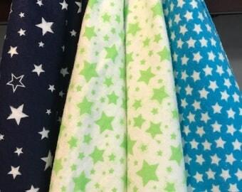 Star Gazing -- Flannel Swaddling Blankets