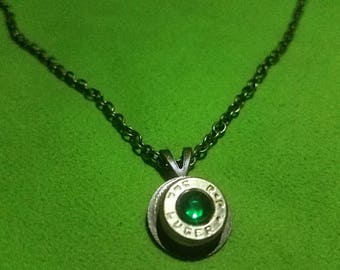 9mm Bullet shell Pendant on a chain necklace