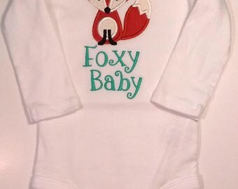 Foxy Baby Onesie for 3-6 Month Baby - Great Baby Gift!