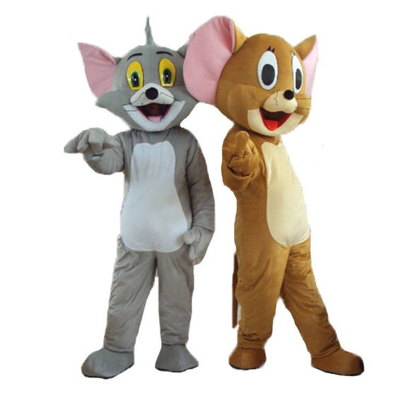 Tom & Jerry Style Couple Mascot Costumes