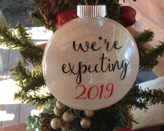 We're Expecting 2019 Couples Christmas Ornament 2018 Shower Gift