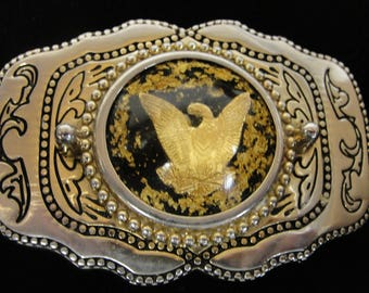 Golden Eagle Western Style Belt Buckle