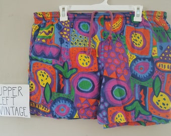 1990s Vintage Jams Style Mens Swim Trunks size Large