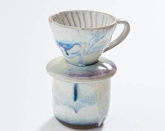 Ceramic Pour Over + Cup - Metallic