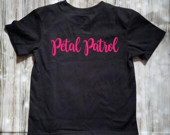 Petal Patrol Toddler Shirt - Flower Girl Shirt - Flower Girl Gift - Reception Clothing - Bridal Party Gifts - Flower Girl - Wedding Attire