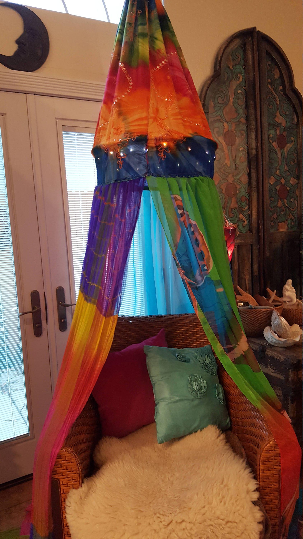 BohemianStitchesUS & Bohemian Canopy for Chair/Bed/Corner - Bedroom Dorm Reading Nook ...