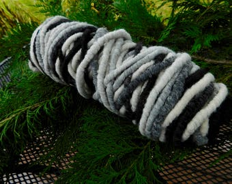 Core Spun Yarn in B & W by Delphi Valley Alpacas