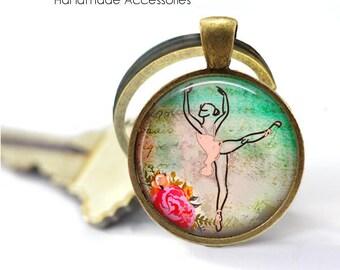 DANCER Key Ring • Ballerina • Graceful Ballerina • Dance Student • Dance Teacher • Choreographer • Gift Under 20 • Made in Australia (K532)
