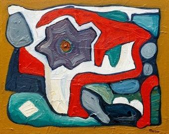 Abstract olieverf schilderij, abstracte kunst, abstract schilderij, olieverf op canvas