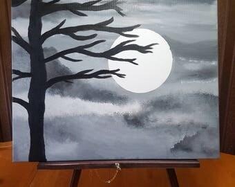 Dark Gray Night Scene
