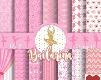 Bailarina Kit Digital Ballerina Ballet Digital Paper