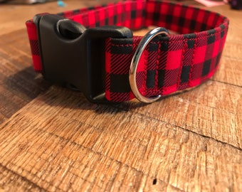 Buffalo Plaid- Dog Collar, Pet collar, Cat Collar