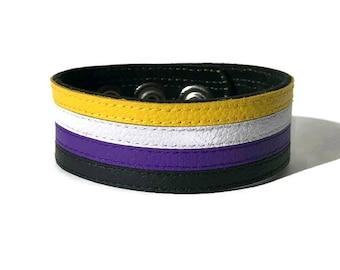 Non binary pride bracelet, non binary flag bracelet, NB pride, enbie pride, LGBTQ, pride, nonbinary bracelet, nonbinary accessory, nb.
