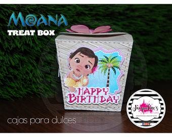 Baby Moana treat - favor box, Moana Treat Box, SET of 6