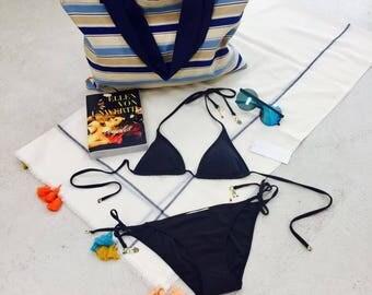 Beach bag-shopping bag-hand made
