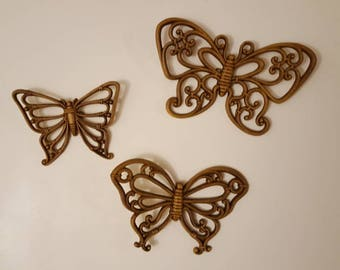 Vintage Butterfly Wall Ornaments