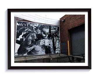 Framed Fine Art NYC Photography. Brooklyn Street Art. Print for Wall Decor & Interior Design
