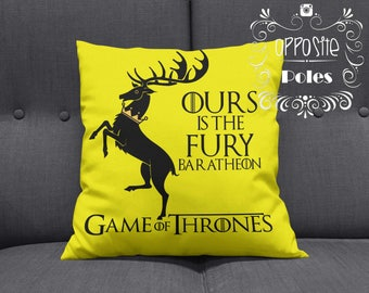 Sale !! Game of Thrones - Ours is the fury - baratheon - tv show - Game of Thrones Ours is the fury baratheon - Pillow Cover - Pillow