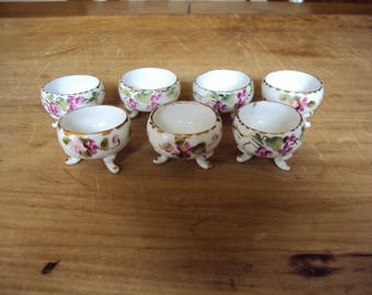 Salt Cellars, Salt Cellar Set, Salt Cellar Collection, Hand Painted Cellar,  Salt Collection