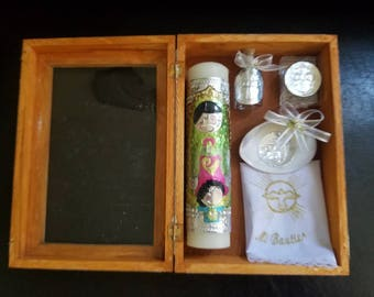 Baptism candle set - set christening candle