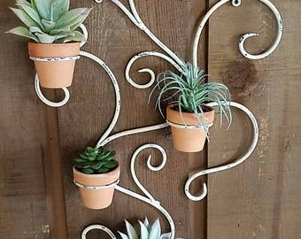 Hanging Wall Planter - Repurposed Candle Decoration