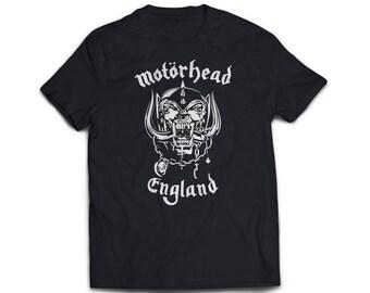 Handmade screen printed motorhead rock music band fan t'shirt