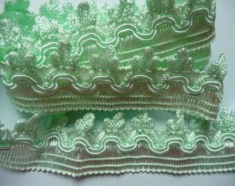 beautiful light green color passementerie braid 1.30 m