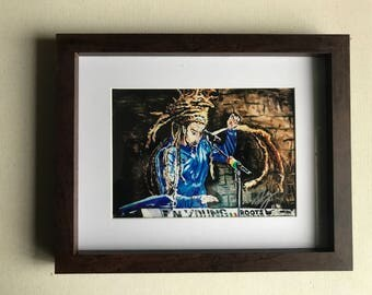 """8""""x10"""" Wooden Frame photographic print """"E.N. Young"""""""
