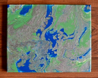 """Abstract Painting """"The view from above"""""""