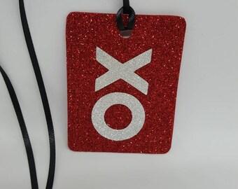 xoxo valentines gift tag