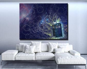 Doctor Who Abstract Canvas Set Tv Show Poster Tardis Poster Tardis Print  Tardis Wall Decor Doctor