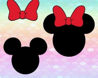7 Mickey Minnie Mouse Frames Bows Svg Monogram Image Svg Alphabet Cut Files Silhouette Studio Cricut Svg Dxf Png digital art