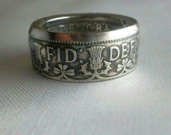 Coin Ring Great Britain - Amazing British Souvenir - Two Shillings - Rings from Coins - Handcrafted - Unisex