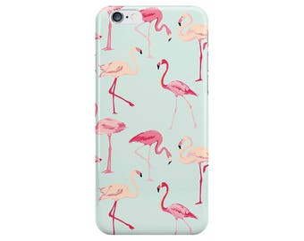 Flamingo Animals Blue Pink Summer Flamingos Phone Case Cover for Apple iPhone 5 6 6s 7 8 Plus & Samsung Galaxy S6 S7 S8 Plus