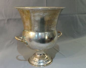 Champagne Bucket French Shabby Chic Missing Silver Plate Original 1930's Flea Market Find Wine Cooler Seau de Champagne