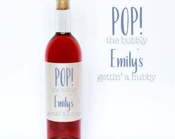 Pop the bubbly! Engagement wine labels