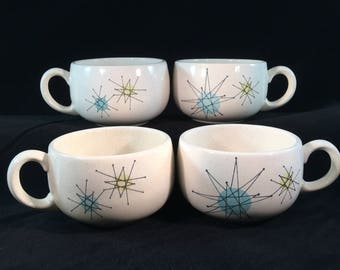 Set of 4 Vintage Franciscan Starburst Cups