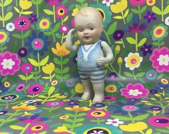 Bisque Tiny Boy, Antique Doll
