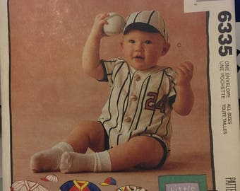 McCall's patterns 6335 (jumpsuits) and 6136 (infants' layette package) - uncut